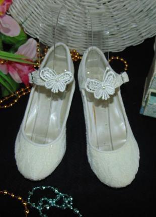 Гламурные нарядные туфли monsoon 32р(13),ст 20 см.мега выбор обуви и одежды!