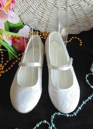 Нарядные балетки john lewis 13(32)р,ст 20см.мега выбор обуви и одежды!