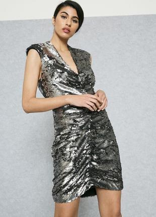Паеточное платье мango 44-46