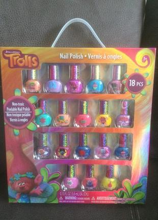 Лак для ногтей детский townley trolls на водной основе