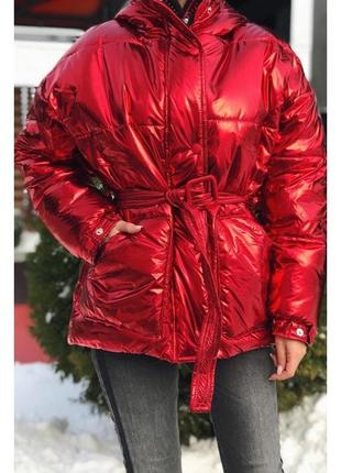 Модная крутая шикарная пуховик куртка 1075-1.разные цвета и размеры s ,m ,l