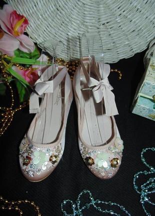 Нарядные балетки next 32(13)р,ст 20 см.мега выбор обуви и одежды!