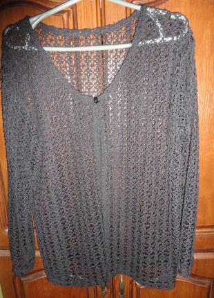 Ажурная накидка-пиджак