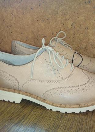 Туфли броги оксфорды pier one разм.39 стелька 25,5 см