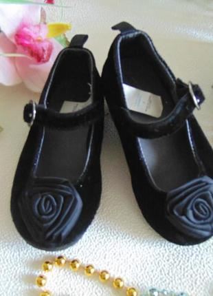 Бархатные туфельки gap 7(23р),ст 14,5см.мега выбор обуви и одежды!