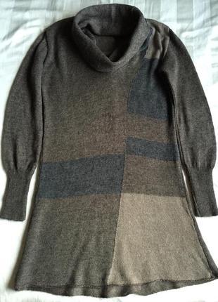 Платье или длинный свитер-шерсть с мохером cocogio-италия