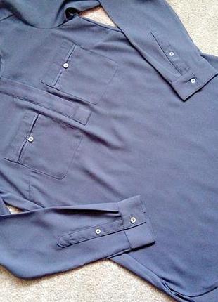 Стильная блузка блузон туника h&m р.4/34 большемерит