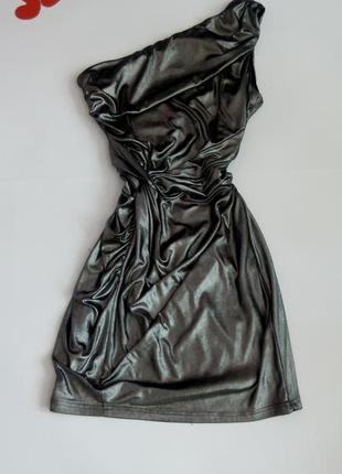 Платье мини вечернее бюстье короткое серое  48 50 размер топ лук скидка распродажа
