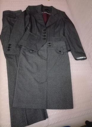 Шикарный костюм тройка (юбка брюки пиджак) next, р.81