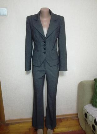 Шикарный костюм тройка (юбка брюки пиджак) next, р.83