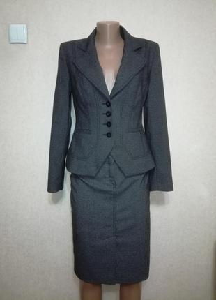 Шикарный костюм тройка (юбка брюки пиджак) next, р.82