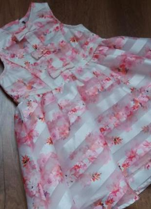 Романтичное платье сарафан tu на 9-12 мес1 фото