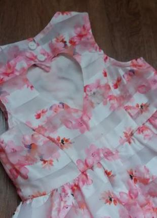 Романтичное платье сарафан tu на 9-12 мес4 фото