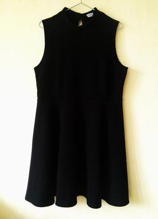 Черное фактурное платье dorothy perkins размер 18 uk dorothy perkins