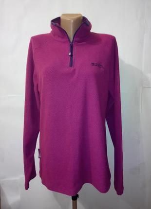 Фиолетовая флисовая кофта под горло mountain warehouse uk 14 / 42 / l
