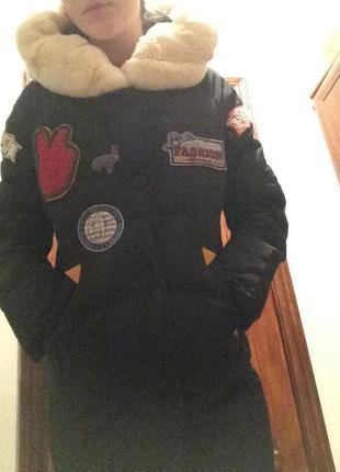 Пуховое пальто vogue.куплено в италии