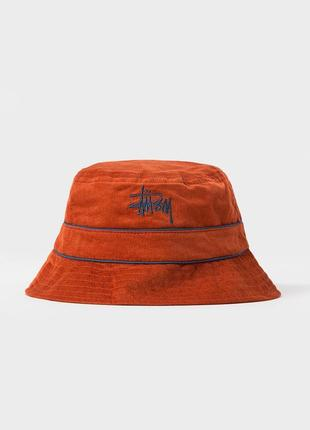 Панама stussy cord band bucket hat