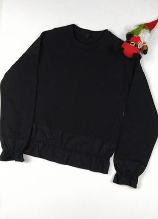 Джемпер свитер черный кос