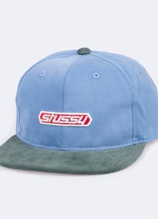 Кепка stussy washed canvas strapback cap, snapback