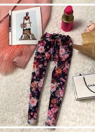Классные цветочные джинсы h&m