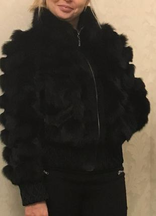 Куртка шуба из кролика натуральный мех