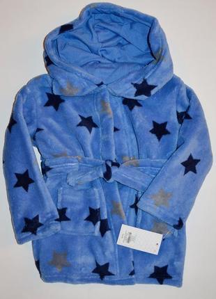 Халат пушистый флис blue stars early days