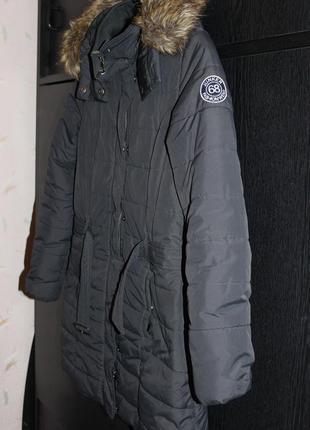 Куртка зима цвет мокрый асфальт