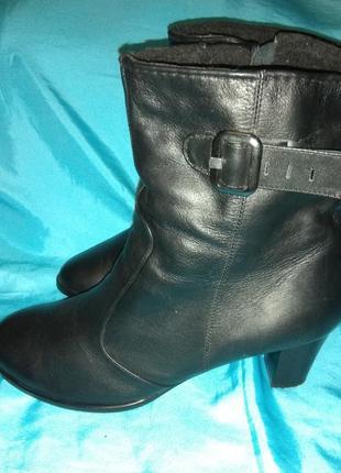Кожаные зимние ботинки сапоги на овчине tg collection р 43