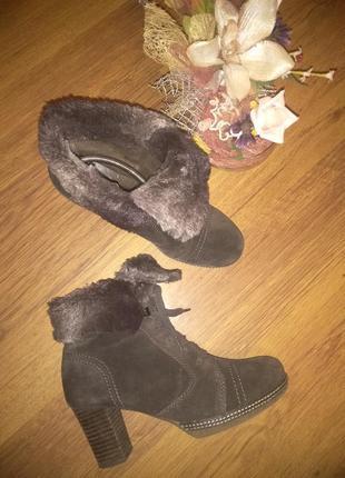 Замшевые ботинки, ботильйоны gabor 39р