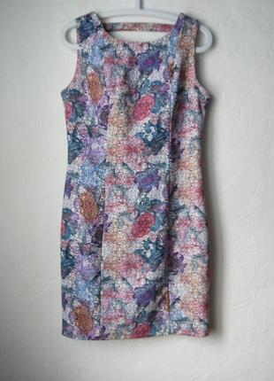 Стильное платье футляр на молнии