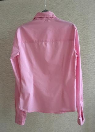 Розовая приталенная рубашка guess2
