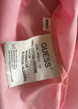 Розовая приталенная рубашка guess5