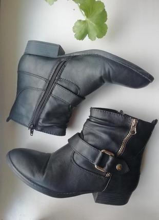 Черные ботинки с утеплителем