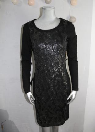 Черное миди платье donna