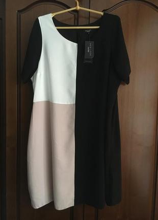 Оригинальное новое платье туника короткий рукав new look