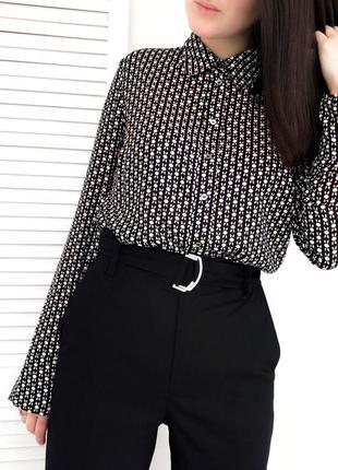 Рубашка из плотного шифона