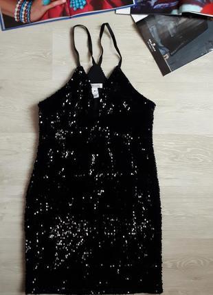 Платье в пайетках nelly/2я вещь в подарок