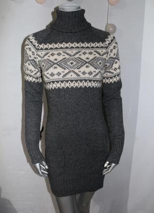 Теплое шерстяное платье гольф pepe jeans