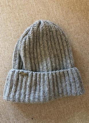 Фирменная шапка barbour 70% шерсть
