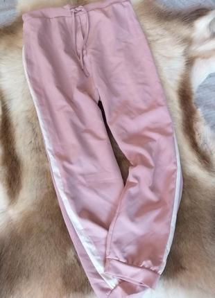 Легкі штани з лампасами пудра
