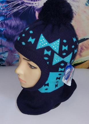 Зимняя шапка-шлем на девочку 48-52,grans,польша