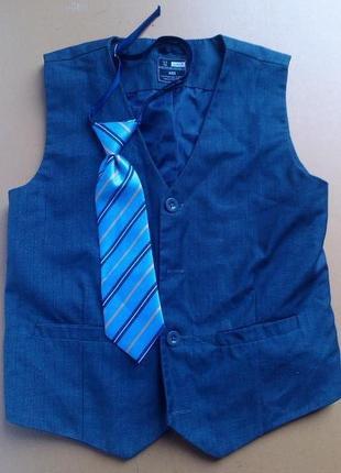 Комплект жилетка+галстук