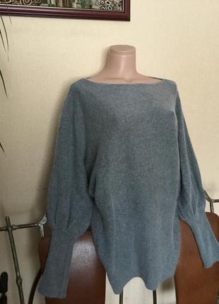 Фирменный итальянский свитер туника от phildarbшерсть+ангора р.м-хл