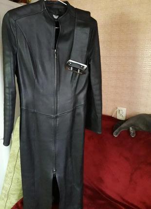 Пальто, френч, куртка натуральная кожа, утепленная