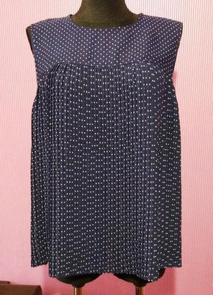 Новая плиссированная блузка в горошек, от бренда tu.