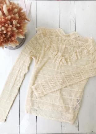 Блуза кофта свитеров с рюшами