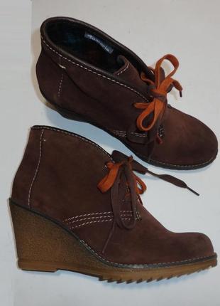 Ботинки tamaris германия натуральная замша р. 40 ст. 26,3 см