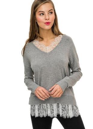 Джемпер гольф кофточка свитер серый befree