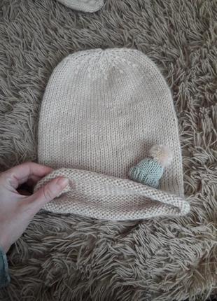 Шапочка шапка бинни из ангорьі