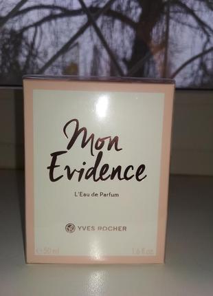 Ив роше парфюмированная вода mon evidence 50 мл